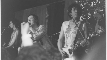 The Sex Pistols play their last but one ever gig at the Links on Christmas Eve 1977. Picture: RICHAR