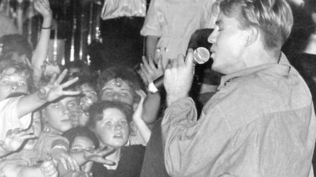 Jason Donovan pictured at Ritzy's, Norwich in 1989. Picture Archant Library