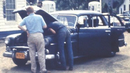 Was that a strange noise – No it is just fine. The 1951 Dodge proved reliable travelling across Amer
