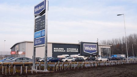 The new Wickes store, on the junction between A140 Sweet Briar Road and Hellesdon Hall Road. Picture