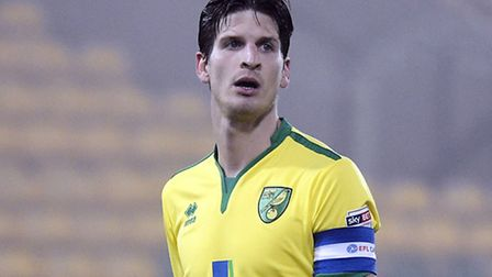 Timm Klose captained Norwich City Under-21s during their defeat to Swansea in the Checkatrade Trophy