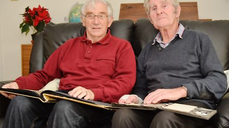 Ken Chapman (red jumper) and Tony Arbon both did National Service together in Hong Kong in the 50s,