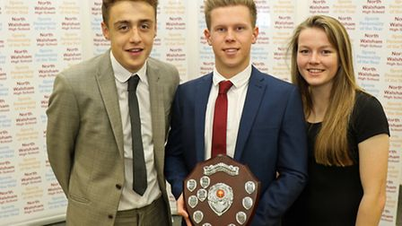 Joint winners of the NWHS Sports Personality of the Year Award Luke Everson (left) and Lauren Hemp,