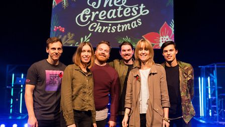 The team behind the Christmas Collective Christmas single. Picture Proclaimers