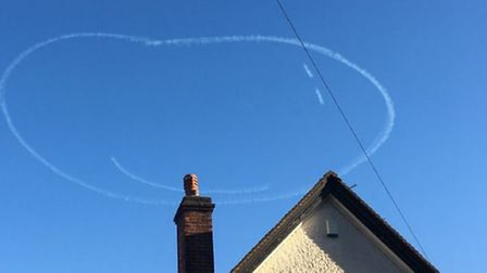 Norwich has woken up to a smiley face in the sky. Picture: James Duez @jamesduez
