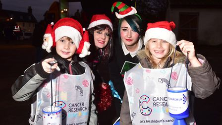 A fun Christmas afternoon was held at the Crown, Fakenham.Tonia Holmes and Chiara Smith with youngst