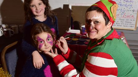 A fun Christmas afternoon was held at the Crown, Fakenham.Chloe and Emily Woodhouse enjoy face paint