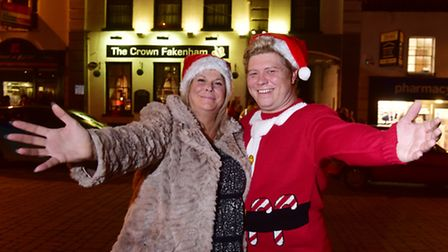 A fun Christmas afternoon was held at the Crown, Fakenham.Event organisers Alie Hannam and James Ant