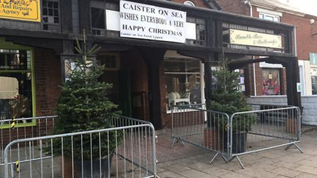 Trees have sprung up across Caister ready for Christmas. The village is staging its first ever switc