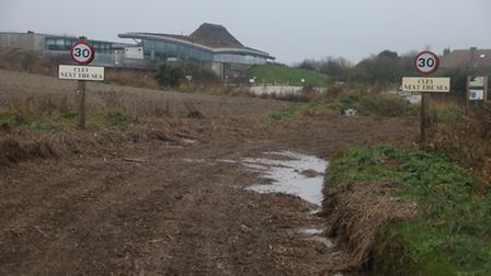 Cley visitor centre escaped any damage but its bottom car park was flooded and the neighbouring acce