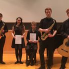 The winners of the 2017 Norfolk Young Musician Competition - from left to right, Jonathan Jolly, Luc