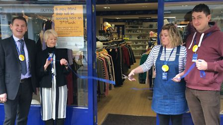 The opening of the Diss Mind charity shop