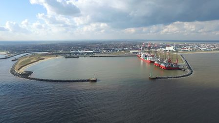 The decommissioning at Great Yarnouth Outer Harbour. Picture: VEOLIA PETERSON