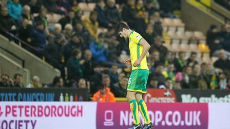 Timm Klose suffered an Achilles injury against Southampton. Picture by Paul Chesterton/Focus Images