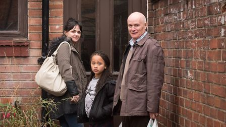 Film Still from I, Daniel Blake. Pictured: Dave Johns as Daniel Blake and Hayley Squires as Katie. P