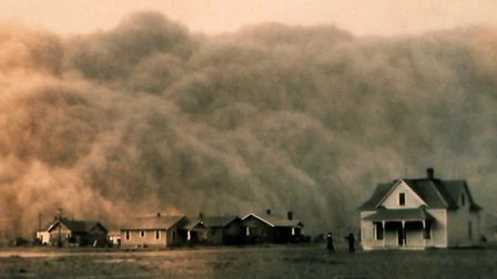Dust storm in the Texas in 1935. Photo from NOAA George E. Marsh Album