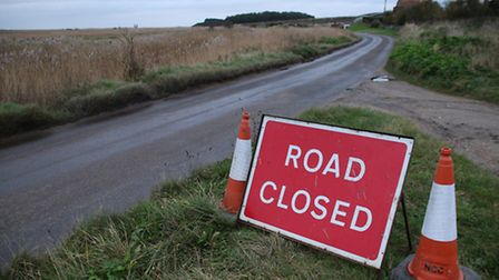 Road closed. Picture: ALLY McGILVRAY