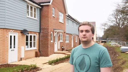 George Peel is unhappy that residents of the new homes at Round House Park have been moved in too ea