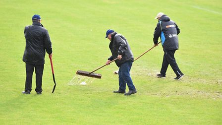 Lowestoft Town's scheduled match with Mertsham was called off after a pitch inspection on Friday nig