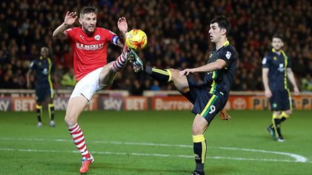 Conor Hourihane scored Barnsley's winner against Norwich City. Picture by Paul Chesterton/Focus Imag