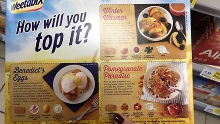 Weetabix has attracted widespread criticism for its latest recipe idea Picture: Louisa Baldwin
