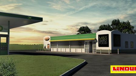 A computer generated image of the new filling station in Aylsham.