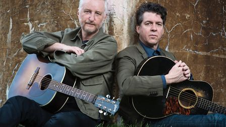 Billy Bragg & Joe Henry will relive their American railroad songbook at Norwich's Open. Picture: Sup
