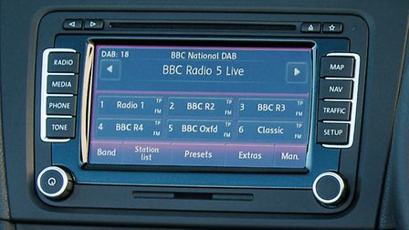 DAB radio was fitted in 84% of new cars sold last year. Picture: Volkswagen