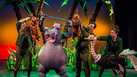 Les Petits Theatre Company's The First Hippo on the Moon, based on David Walliams story. Picture: Th