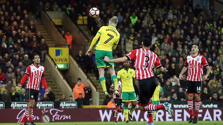 Steven Naismith scores Norwich City's stoppage time equaliser. Picture by Paul Chesterton/Focus Ima