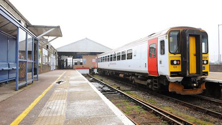 Great Yarmouth train station. March 2015. Picture: James Bass