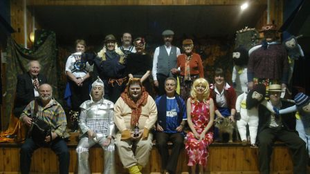 The full cast of the Friends of Norfolk Dialect panto The Wizard of Ouse. Picture: ALAN COOPER