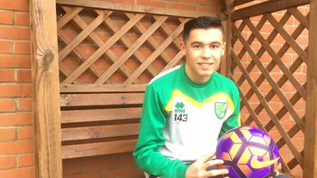 Finlay Barnes, 16 of Bradwell, who has signed a scholarship with Norwich City