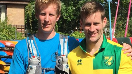 From left, Sam and James Stafford Allen, who will be taking on the Marathon des Sables Please fin