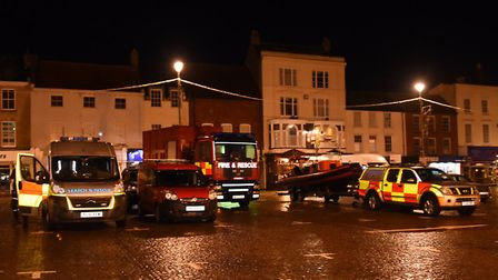Fire and search and rescue at Yarmouth Market. Picture: DENISE BRADLEY