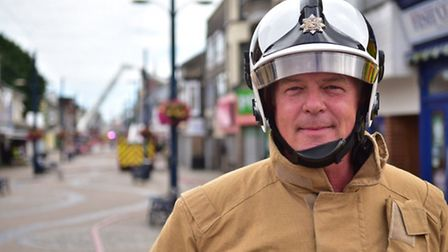 Fire at Regent Superbowl in Regent Road, Great Yarmouth. Pictured: Assistant chief fire officer Davi