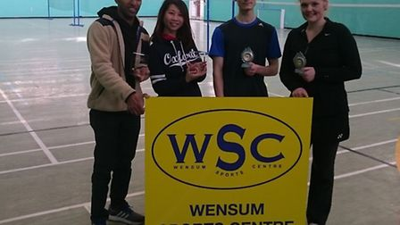 Wensum Sports Centre's first WSC Open Tournament took place on January 14 and 15. Pictured are Mixe