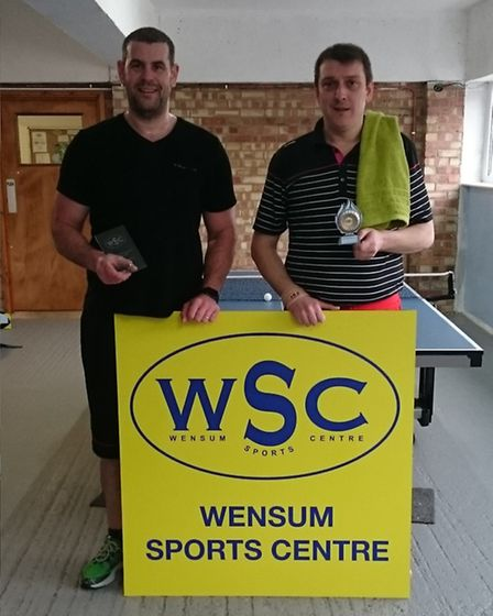 Wensum Sports Centre's first WSC Open Tournament took place on January 14 and 15. Pictured are Men'