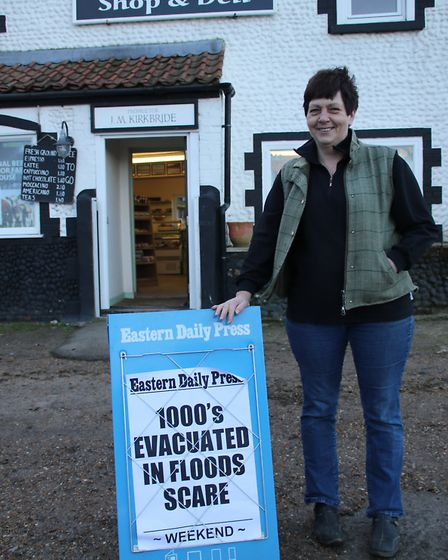 June Kirkbride runs the old Post Office shop and deli in Salthouse. Picture: ALLY McGILVRAY