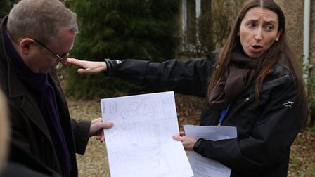 Councillors and officials discussed the plans during a site visit. Picture: ALLY McGILVRAY
