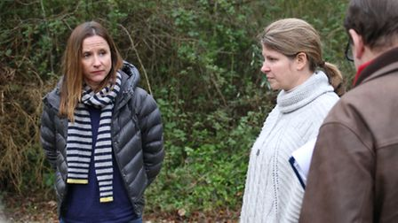 Norfolk-born Rachel Thrower, pictured left, wants to develop the site to relocate her family from Lo
