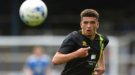 Ben Godfrey made his first team debut at Norwich City earlier this season. Picture by Richard Blaxa