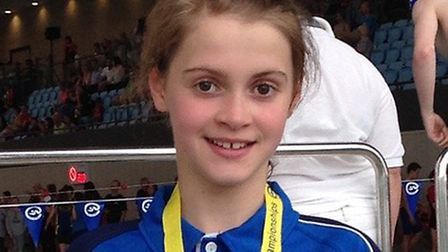 Young swimmer Alice Fasey. Picture: Breckland Council