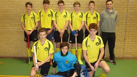 Norwich City�s U16 boys indoor hockey team. Picture: Submitted