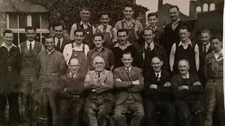 The Jarrolds maintenance team taken in 1951. Frank Dunn, father of Michael Dunn who supplied this ph