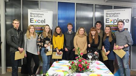 Sheringham High School's class of 2016 prizewinners. Picture: SHS
