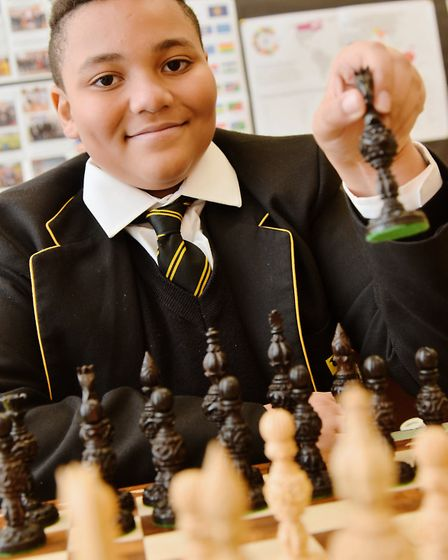 Jaden Jermy from Thetford is having a trial for England Chess team's closed championships. Byline: S