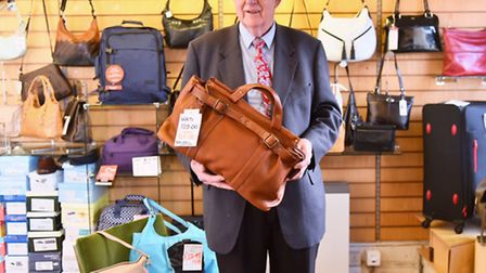 David Green will be closing his shop in Wymondham at the end of January, for over 40 years, Handbag