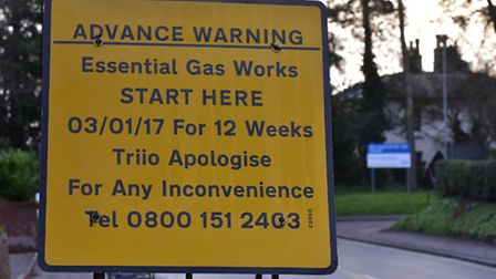 Essential gas works are being carried out in Beccles. PHOTO: Nick Butcher