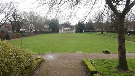 One of the two Mile Cross Gardens at the junction of Aylsham Road and Suckling Avenue. Picture: DENI